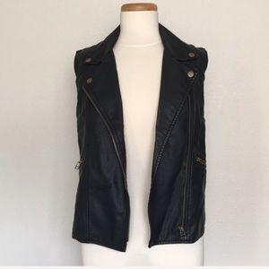 Sanctuary black leather vest